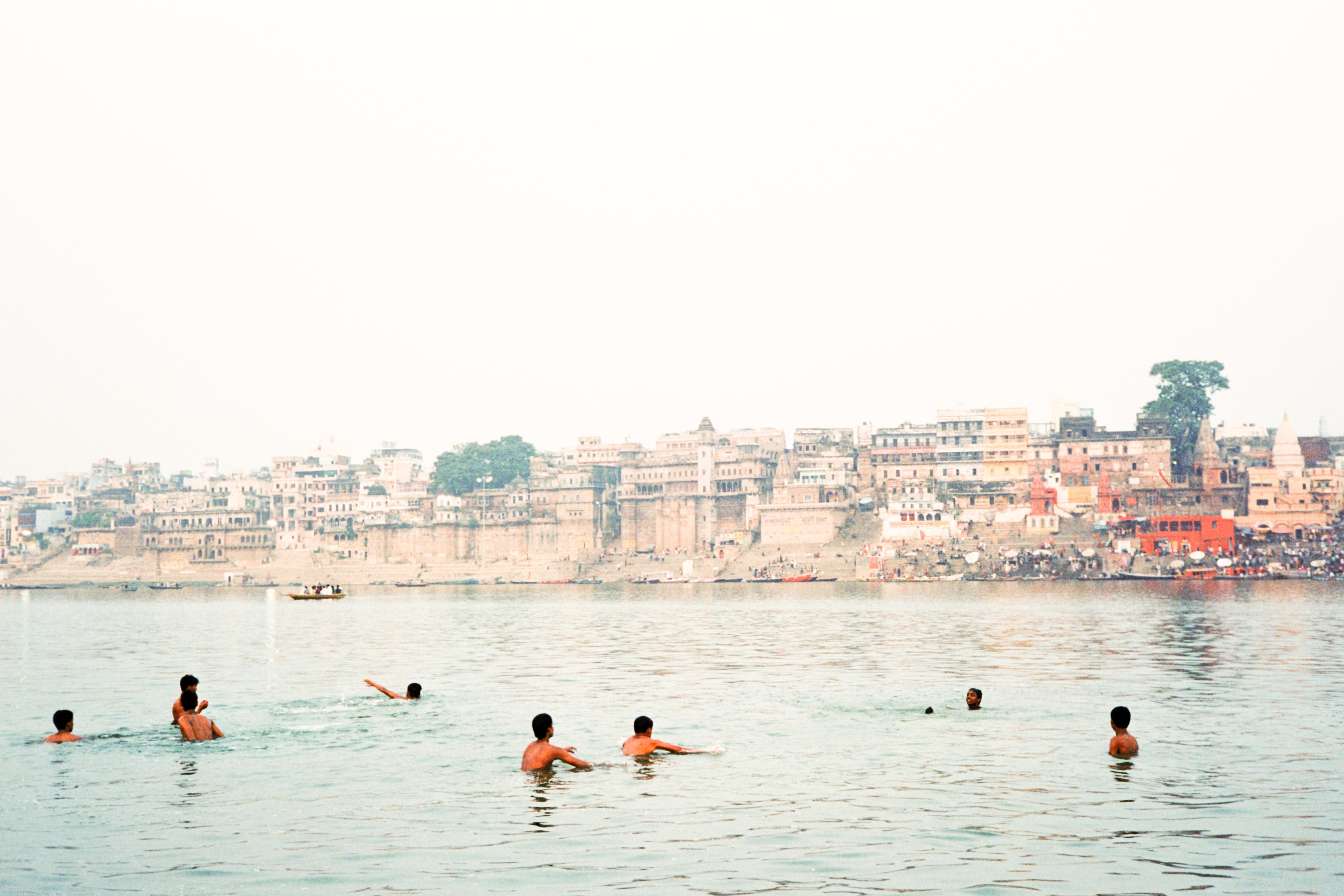 Swimming, Varanasi, India, , fine art photography, shooting film, landscape, Incredible india, fine art, art , artist, workshop, pilgrims, holy city, travel