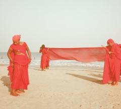 Three women on the shoreline, Gokarna, India 2018