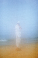 Man on the beach , Karnataka, India 2013