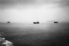 Boats in Penang, Malaysia , SeascapeRolleiflex PlanarAnalog Photography