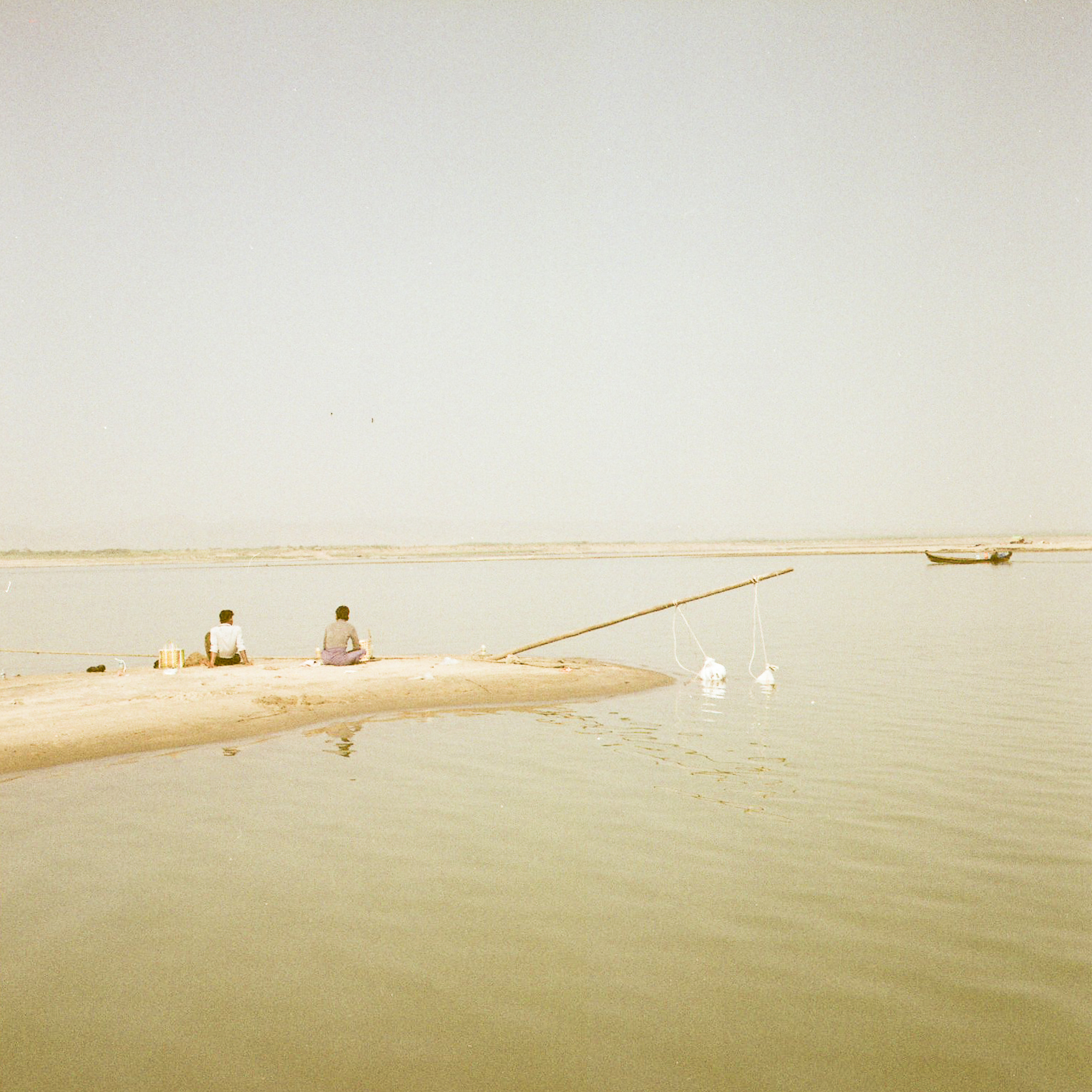 Fisherman in Bagan, fine art photography , travel photography, shooting film, medium format, Myanmar, Burma,raffaele ferrari, rolleiflex, fujifilm