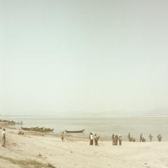 waiting on the river ,  Bagan, fine art photography , travel photography, shooting film, medium format, Myanmar, Burma,raffaele ferrari, rolleiflex, fujifilm