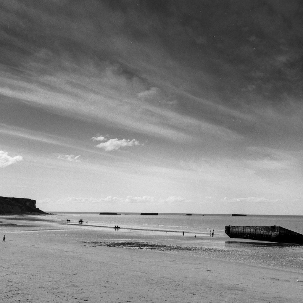 Arromanches-les-Bains, Normandie, France, d day beach